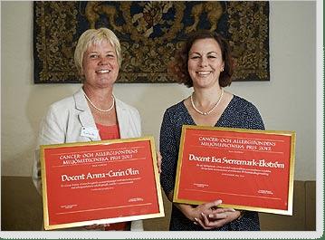 Årets pristagare Anna-Carin Olin och Eva Sverremark-Ekström