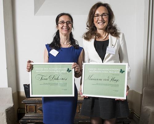 Professor Tina Dalianis och professor Marianne van Hage